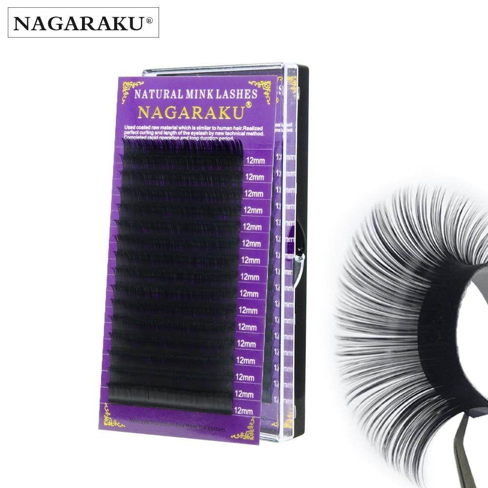 0.07mm Ccurl 8mm NAGARAKU 16 Rows Faux mink individual eyelash lashes maquiagem cilios for professionals soft mink eyelash extension JJM01 16 Rows eyelash