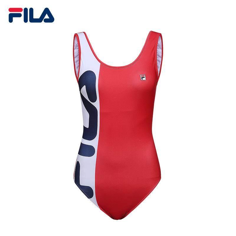 Fila Women Swimsuit/two Tones Logo Swimsuit By Fila Flagship Store.