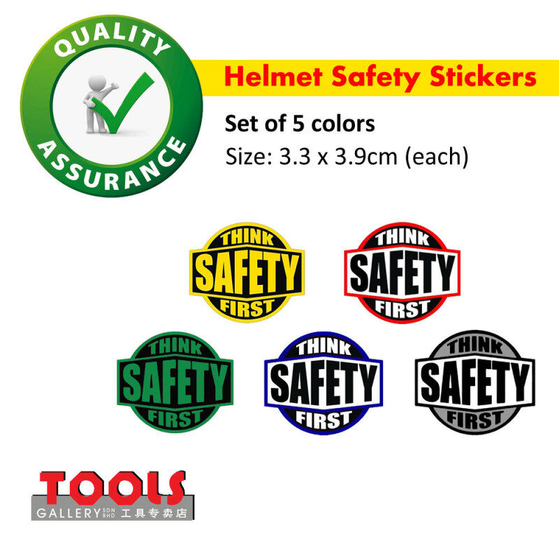 Helmet Safety Stickers/Label/Think Safety First Stickers/Head Protection