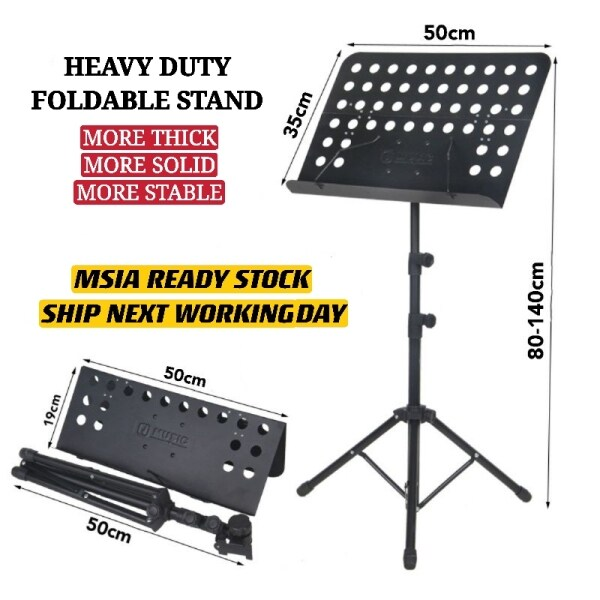 Foldable Quran Stand Music Stand for Orchestra Violin Guitar Choir Conductor Stand Malaysia