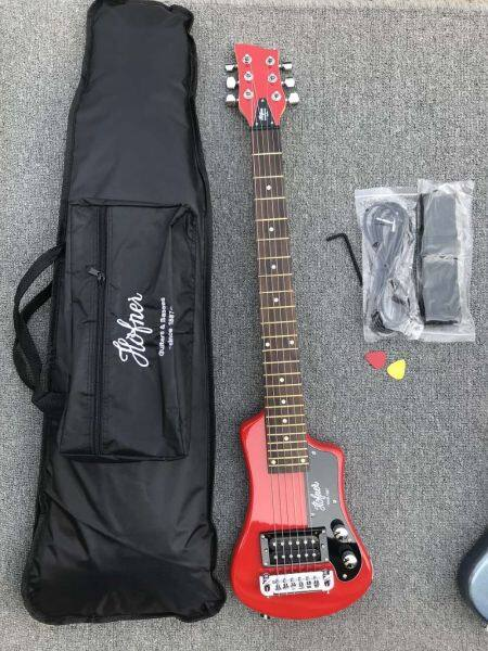 Travel Mini Electric guitar Black Red Blue Colour With Cotton Soft bag+ strap + plectrums Malaysia