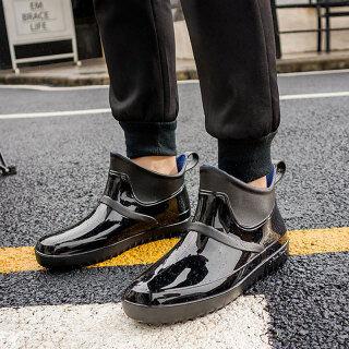ỦNG ĐI MƯA OMS, Giày Đi Nước Theo Xu Hướng Thời Trang Hàn Quốc Cho Nam Bốt Đi Mưa Bốn Mùa Giày Cao Su Cổ Thấp Chống Trượt Chống Nước Ống Ngắn Mặc Bên Ngoài Nam thumbnail
