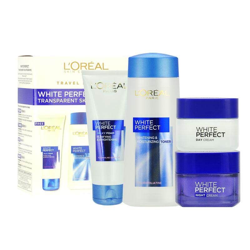 Loreal White Perfect Transparent Skin Programme Travel Exclusive 4pcs Set By Yasuee_my.