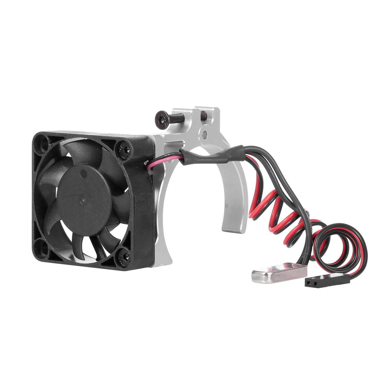 RC Crawler Cars Motor Heatsink with 2 Fans Cooling for 1:10-4