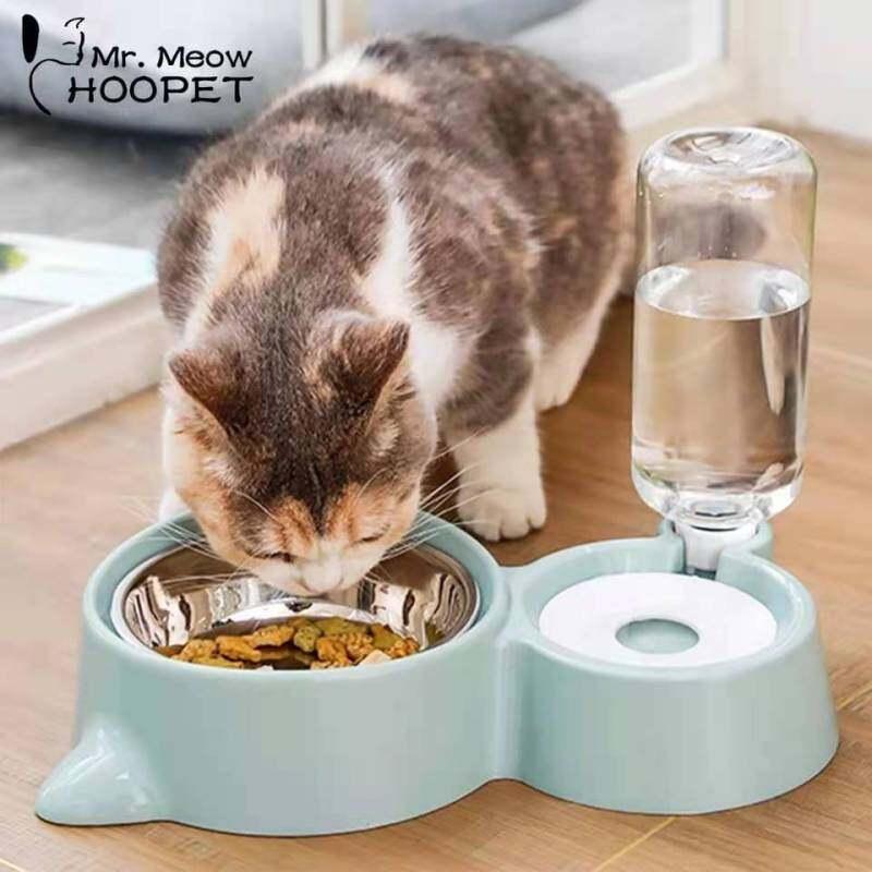 Hoopet Bát Cho Mèo Chó Dụng Cụ Cho Uống Nước Bát Mèo Mèo Con Trụ Uống Nước Đĩa Đựng Đồ Ăn Bát Ăn Cho Thú Cưng Hàng Hóa
