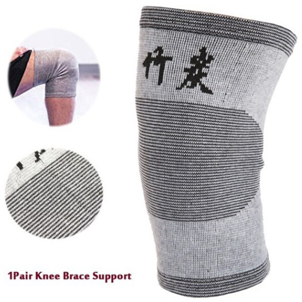 BOTHHY 1Pair Breathable Elastic Bamboo Charcoal Prevent Arthritis Bandage Sports Support Protector Knee Pads Gym Sleeve Knee Guard