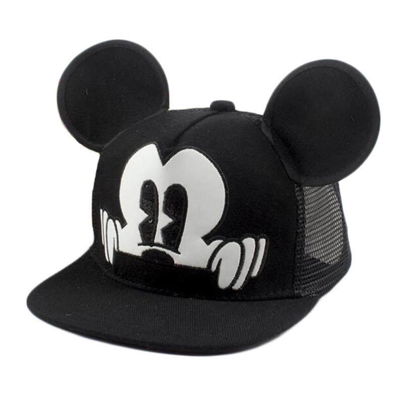 2849f6fadb0866 Cartoon Mouse Ear Baseball Cap Cute Kids Cap Summer Adjustable Baby Boy  Girl Hat Children Snapback