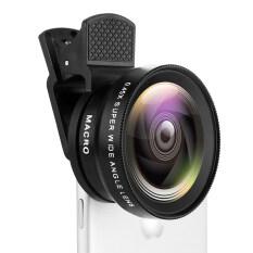 Ống Kính Ống Kính Macro 125x Góc Rộng 045x Có Kẹp Bộ 2 Trong 1 Dành Cho Camera Điện Thoại Thông Minh iPhone Huawei Xiaomi