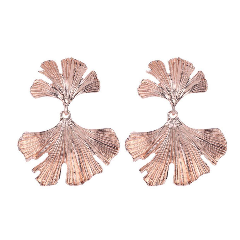 Promo Pribadi Bunga Daun Ginkgo Anting Stud Mode untuk Wanita Anting-Anting Perhiasan