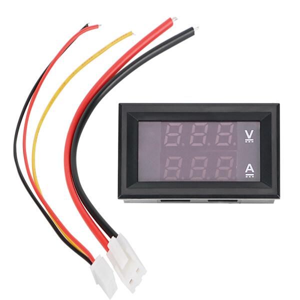 With Cable LED Display Blue Red Dual Amperemeter Voltage Indicator Tester Mini Digital Voltmeter Ammeter DC 100V 10A Volt Ampere Meter
