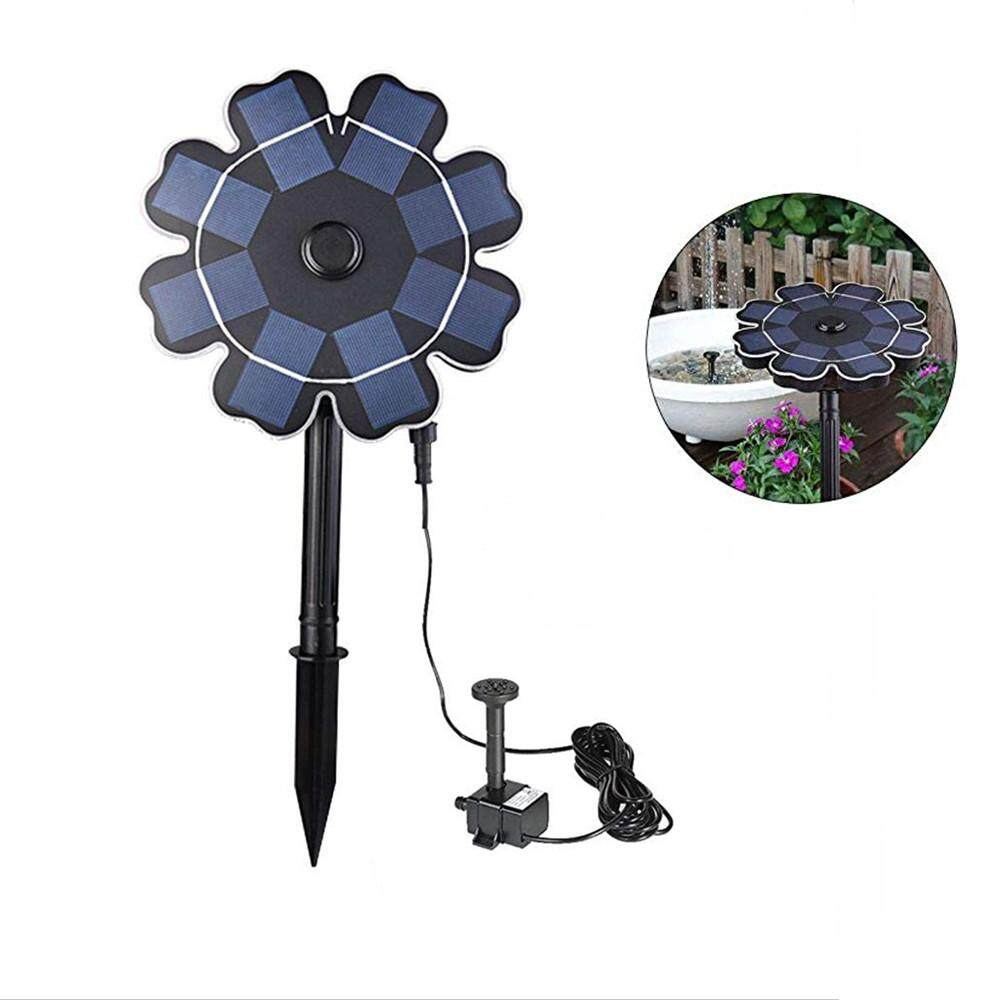 RD 8V 1.6W Waterproof Solar Fountain with Flower-shape Water Pump Style:Insert