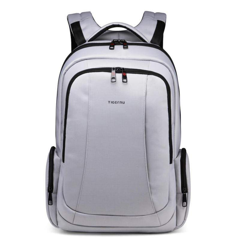 GoodLike Tigernu for 15.6 inch laptop nylon waterproof men and women travel business backpack T-B3143 (silver gray)