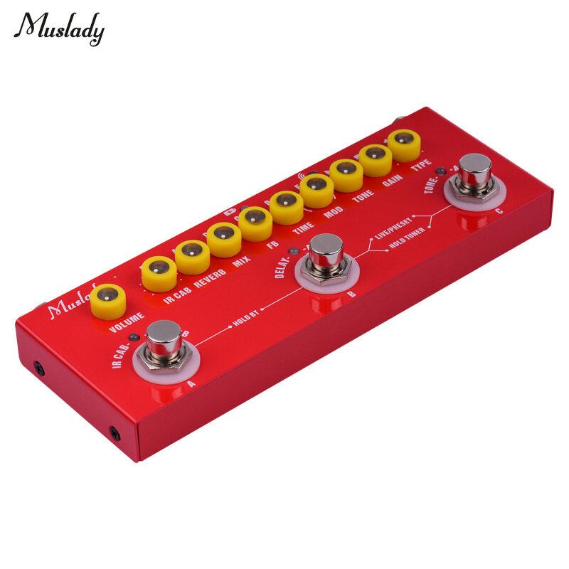 Muslady Cube Bayi Mudah Alih Multi-Fungsi Gitar Elektrik Digabungkan Kesan Pedal dengan Rakaman Telefon Main Balik Muzik Tanpa Wayar Antara Muka Audio fungsi Malaysia
