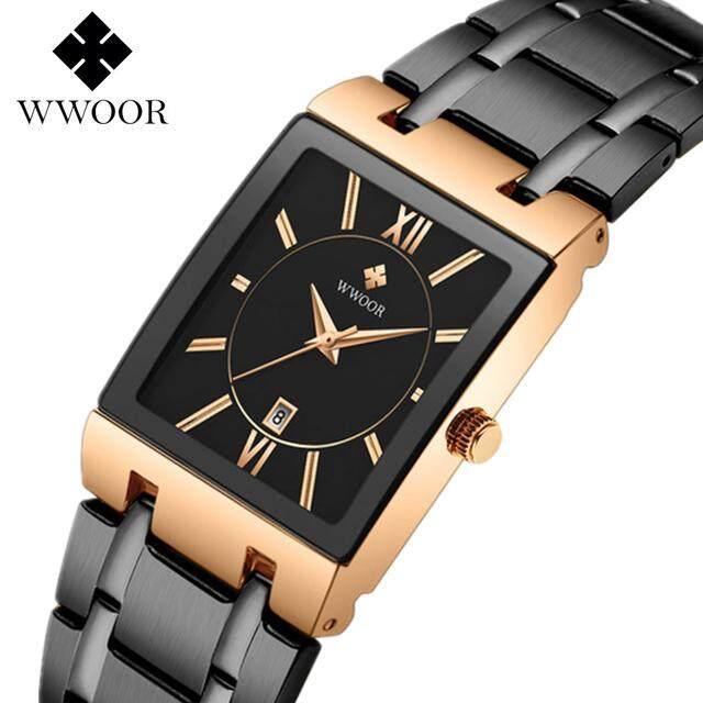 Nơi bán ĐỒNG HỒ NAM WWOOR cao cấp thương hiệu thể thao nam dây thép không gỉ Casio đơn giản lịch đồng hồ nam chống nước 30 M thể thao và giải trí đồng hồ