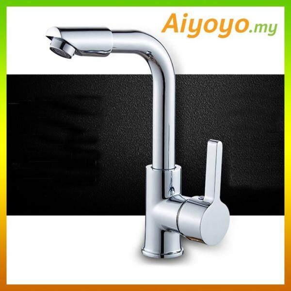 Rotation Mixer Bib Water Tap Faucet Bathroom Wash Basin Sink Bath Kitchen Lavatory Bathtub Swivel Hot Cold Brass Chrome