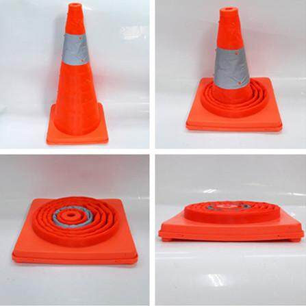 millionhardware - 62mm / 25 Telescopic Folding Road Cone Barricades Warning Sign Reflective Oxford Traffic Cone Traffic Facilities For Road Safety