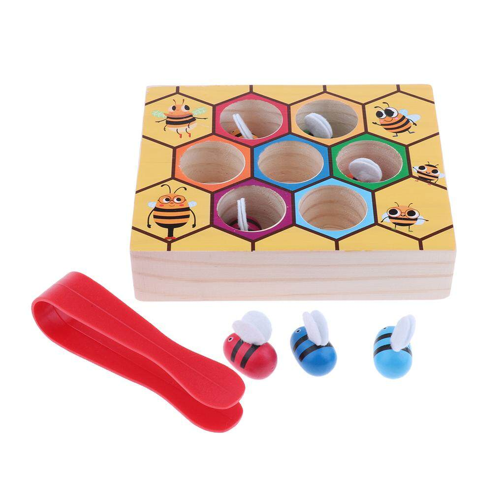 BolehDeals Bee Game Kids Color Sorting Counting Toys Montessori Toy with Clamp Picking