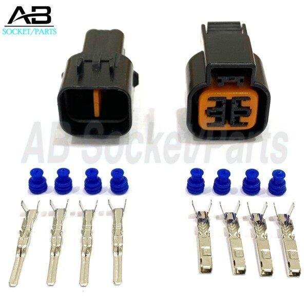 卍☎  4 Pin Proton Saga BLM Wira VDO Hyundai Accent Oxygen Sensor (Male Female) Socket Connector
