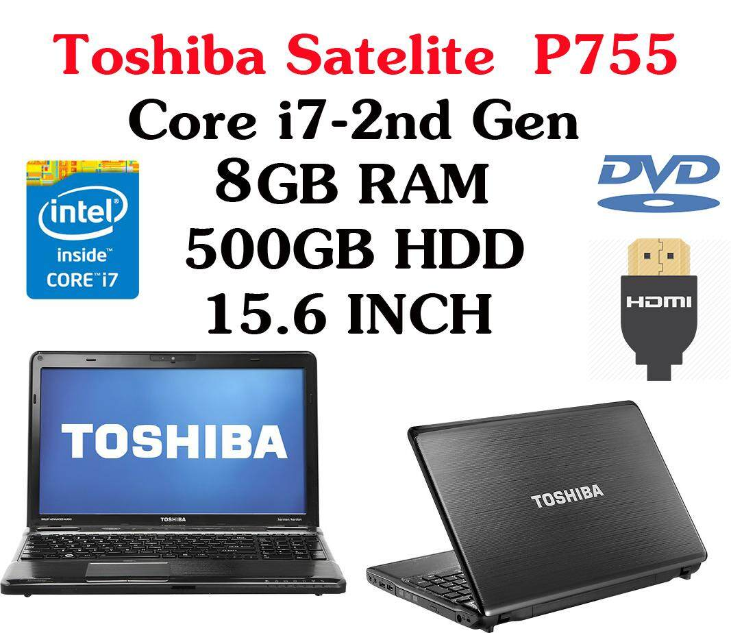Toshiba Satelite P755 Intel Core i7-2nd Gen 8GB RAM 500GB HDD 15.6 INCH Malaysia