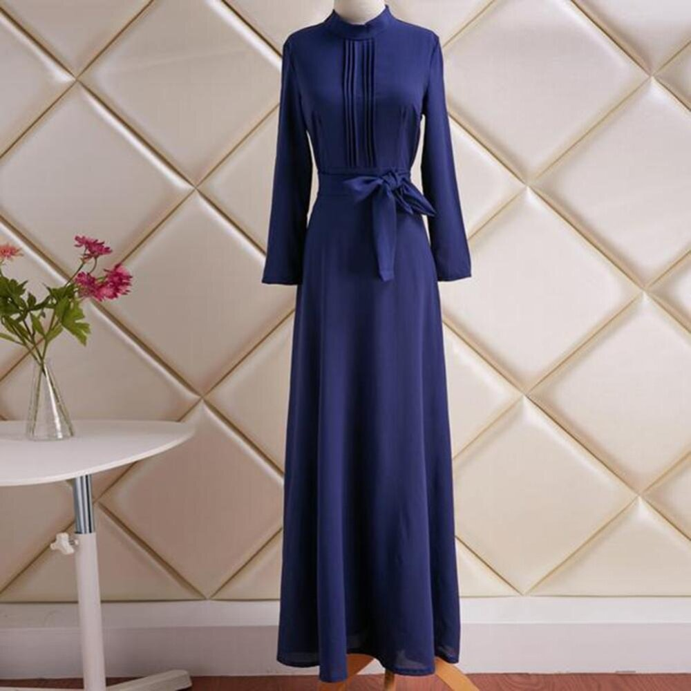 aebd0f0c45 Women Dresses Elegant Ladies Long Sleeve Evening Party Cocktail Prom Maxi  Dress S-XL