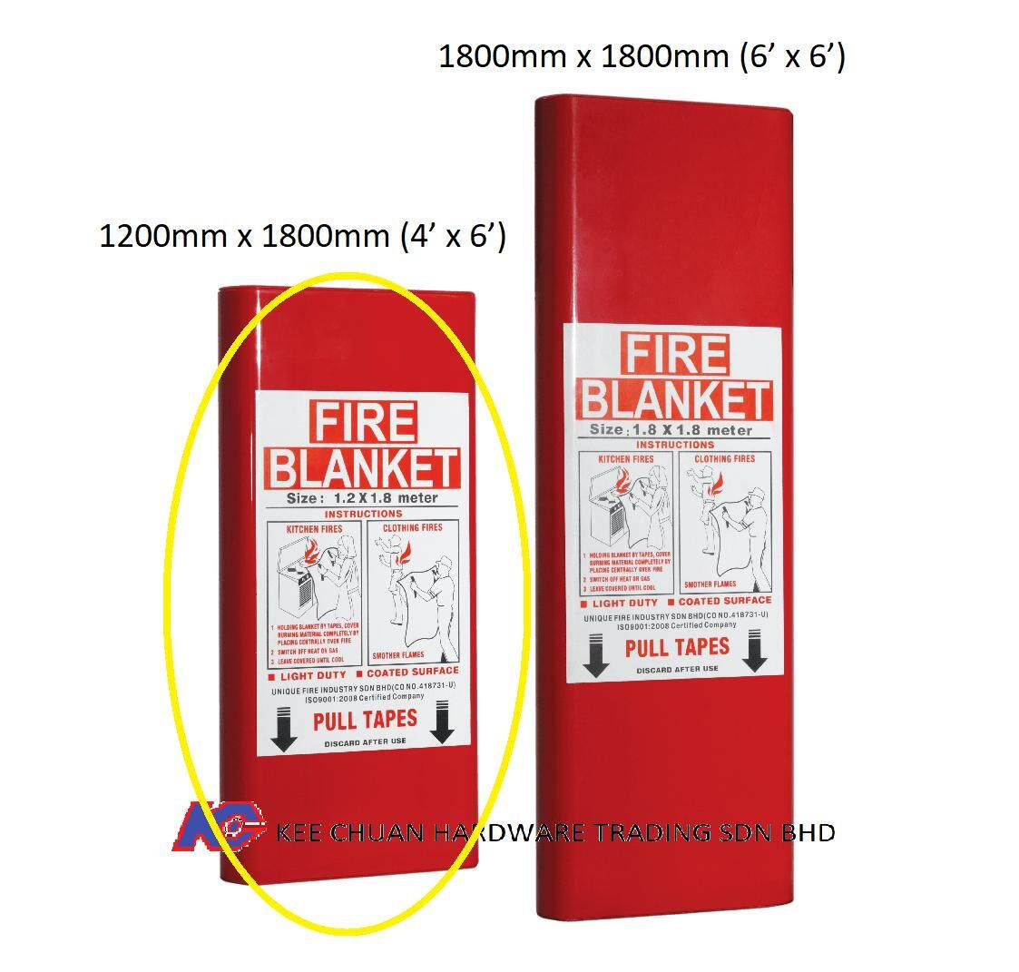 High Quality Emergency Fire Extinguishing Blanket Fire & Smoke Curtain Home Safety Kit Tool with Storage Box