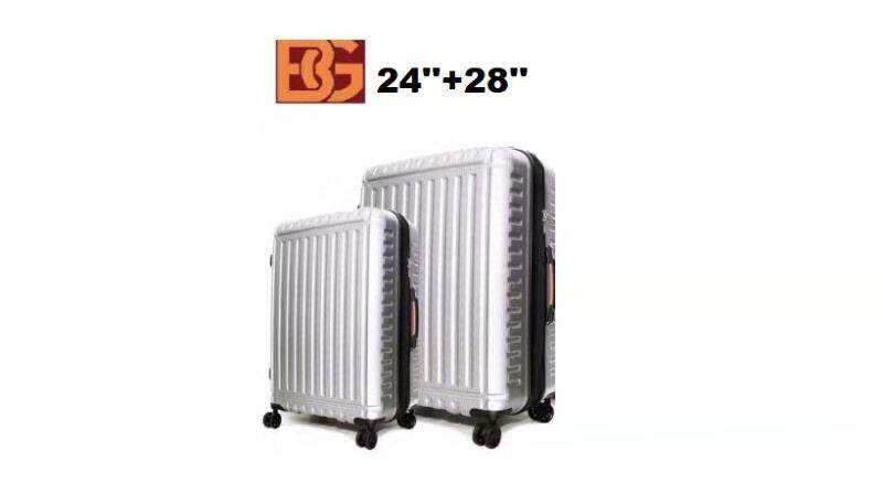 [2IN1 LUGGAGE SETS] 24+28 INCH SHINING SURFACE ANTI-SCRATCH DESIGN EXPANDABLE +20% CAPACITY PC MATERIAL LUGGAGE