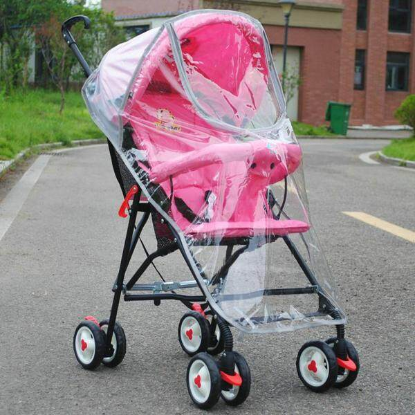 Windproof Baby Stroller Accessories PVC Zipper Universal Dust Shield Waterproof Practical Rain Cover Singapore