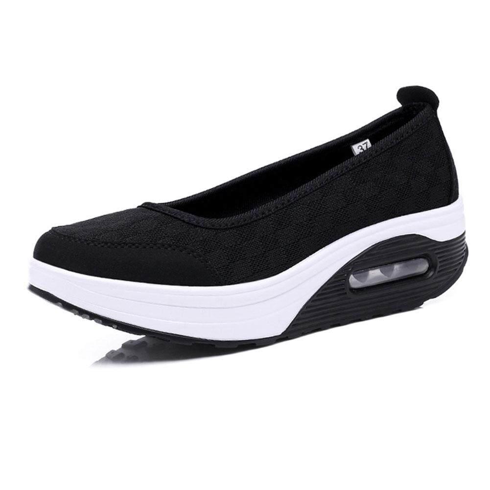 ฤดูร้อนใหม่รองเท้าส้นเขย่ารองเท้าแฟชั่น Casual รองเท้ามัฟฟินรองเท้าผู้หญิงเดี่ยว By Speedcar589.