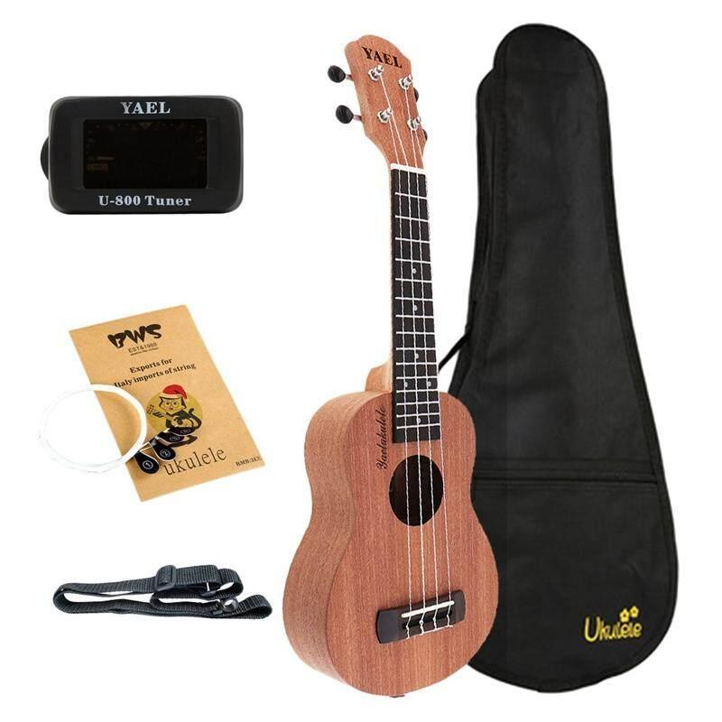 Yael Concert Ukulele Kits 23 Inch Sapele Wood 18 Fret Hawaii Four Strings Guitar With Bag Tuner Capo Strap Stings Picks Musical Instrument