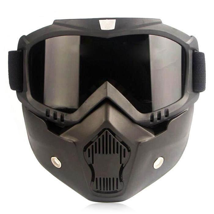 CTSMART Vintage Outdoor Full Face Motorcycle Googles Harley Riding Mask