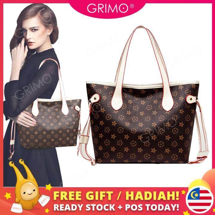 GRIMO Malaysia Bersia Flower L Tote Bag Handbag Beg Bags Travel Women Casual Girl Ladies New