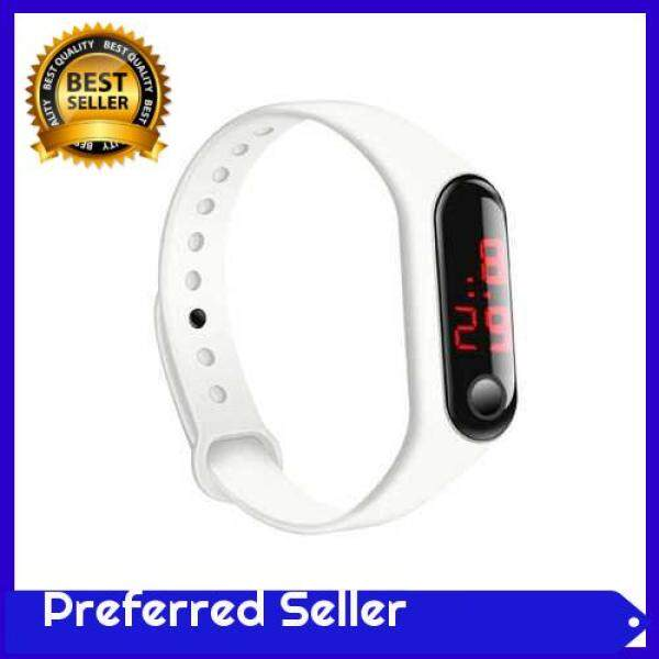 TOP SELLER New LED children three generations of millet bracelet electronic watch sports silicone bracelet promotional gifts factory direct wholesale white (White) Malaysia