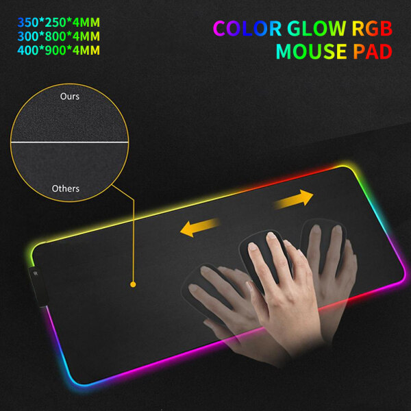 【Limited Free Shipping+COD】RBG Gaming Mouse Pad Large Mouse Pad Computer Mouse Pad LED Backlit XXL Pad Mause Surface Keyboard Desk Pad Malaysia