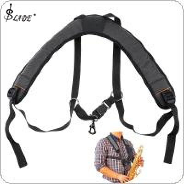 SLADE Adjustable Oxford Fabric Wider Add Cotton Saxophone Strap Sax Holder Double Shoulder with Steel Hook for Alto Tenor Soprano Sax Malaysia
