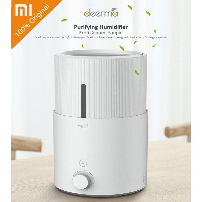 [100% Original ] Xiaomi Deerma UV Humidifier DEM - SJS600 Ultrasonic Air Humidifier 5L Large Capacity Purifying Humidifier Xiaomi Youpin Aroma Singapore