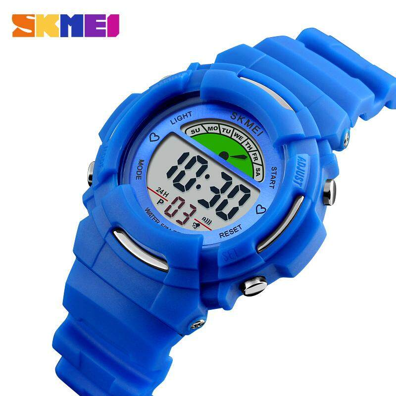 SKMEI New Fashion Kids Watch Girls Children Watches Cute Alarm LED Digital Waterproof Wristwatches Jam tangan kanak 1272 Malaysia