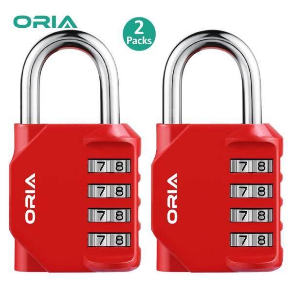 Khóa kết hợp 4 chữ số ORIA, khóa 2 gói bằng thép và hợp kim kẽm phù hợp cho phòng tập thể dục lưu trữ tài liệu - INTL