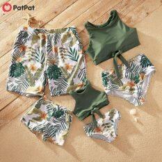 PatPat Tankini In Hoa Và Lá Gia Đình Phù Hợp Với Đồ Bơi Đồ Bơi-Z