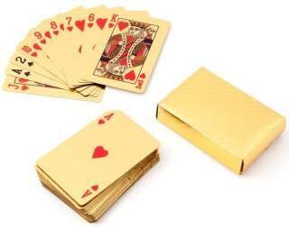 (LOẠI 1 CHỐNG NƯỚC) - Bộ Bài Tây Mạ Vàng 52 lá- Bộ Bài Tây Dollar, Euro, Họa Tiết Mạ Vàng Cao Cấp Sang Trọng [Thao2] Dũng thumbnail