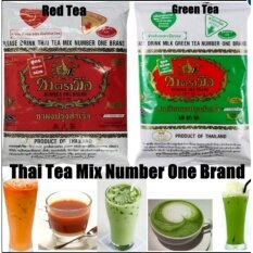 Green Tea Thai Tea Green Tea 1pck and Thai Red Tea 1 Pkg ( Mix Combo