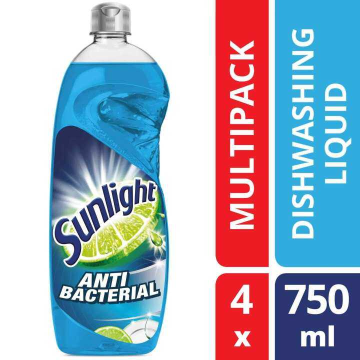 Sunlight Dishwash Liquid Anti-Bacteria 750 ml x 4