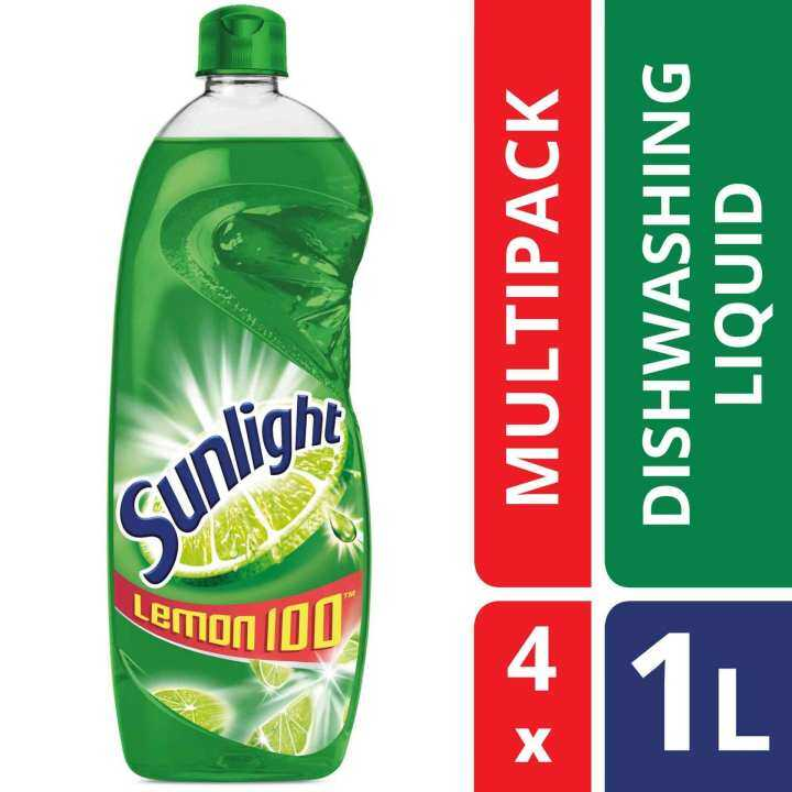 Sunlight Dishwash Liquid Lime 1 L x 4