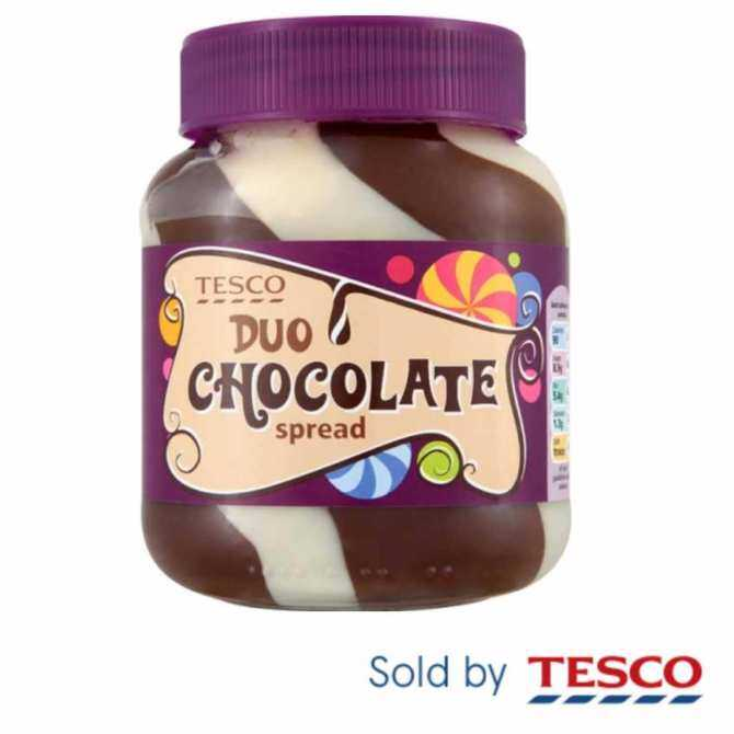 TESCO DUO CHOCOLATE SPREAD (400G)
