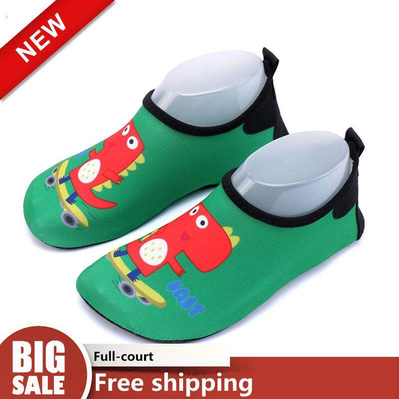 32a817b7b56b3 BOB Diving Boots swimming shoes boys and girls dinosaur beach wading shoes  barefoot soft shoes non