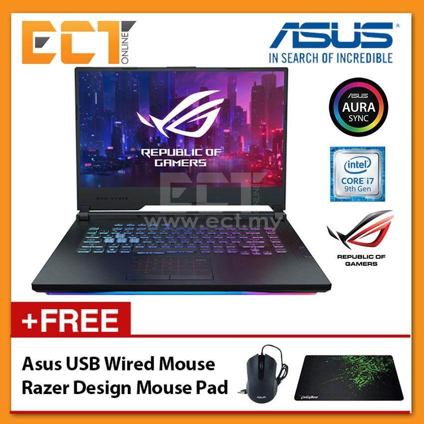 Asus ROG Strix G G531G-UAL078T Gaming Laptop (i7-9750H 4 50GHz,8GB,512GB,NV  GTX1660Ti-6G,15 6