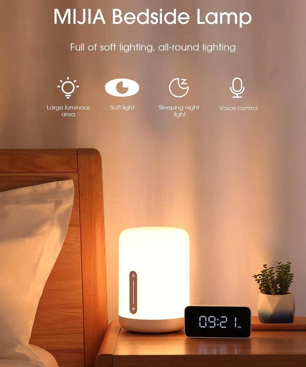 【Free Shipping + Flash Deal】 Xiaomi Mijia MJCTD02YL Colorful Bedside Light 2 bluetooth WiFi Touch APP Control Apple HomeKit Siri