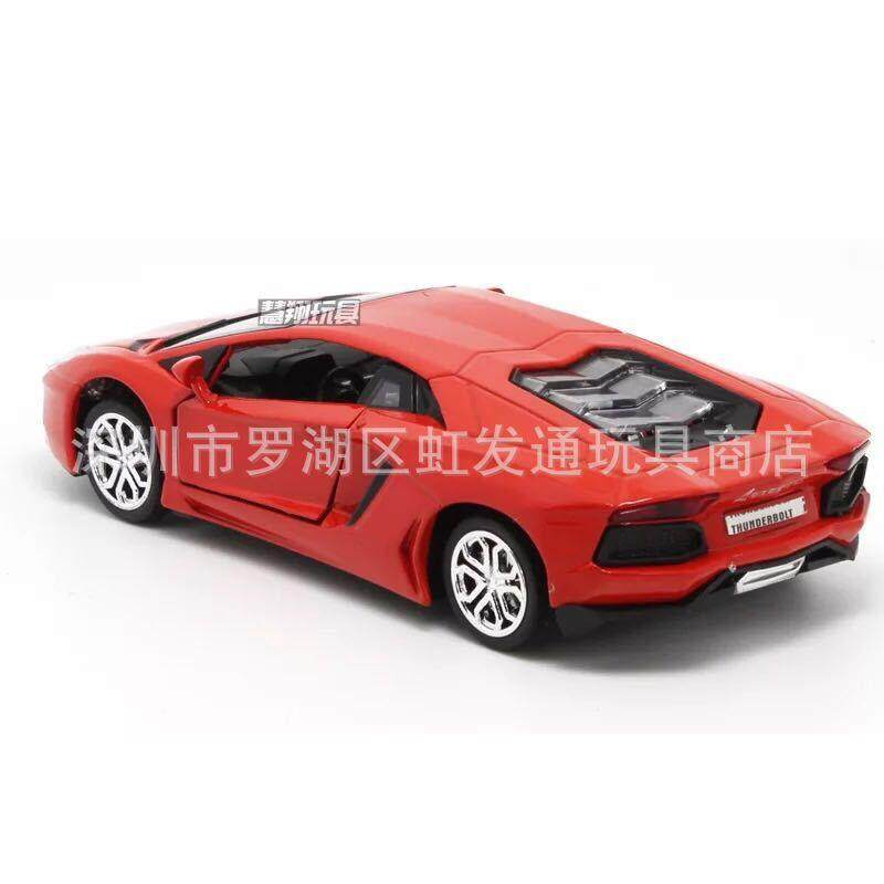 Alloy Lamborghini Sports Car Real Car Model Music Light Pull Back Ai Wenta Multi-Day Eagle Boy By Jin Xin.