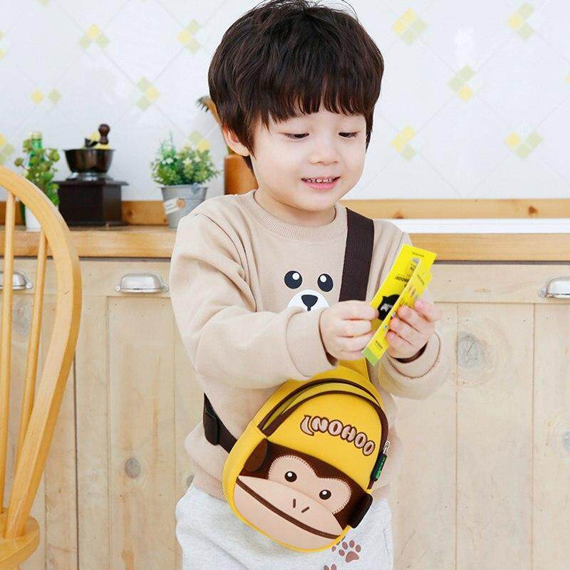 Toddler Crossbody Bag 3D Monkey Children Chest Bags for Girls Boys Waterproof Cartoon Kids Baby Small Bags Messenger Bags