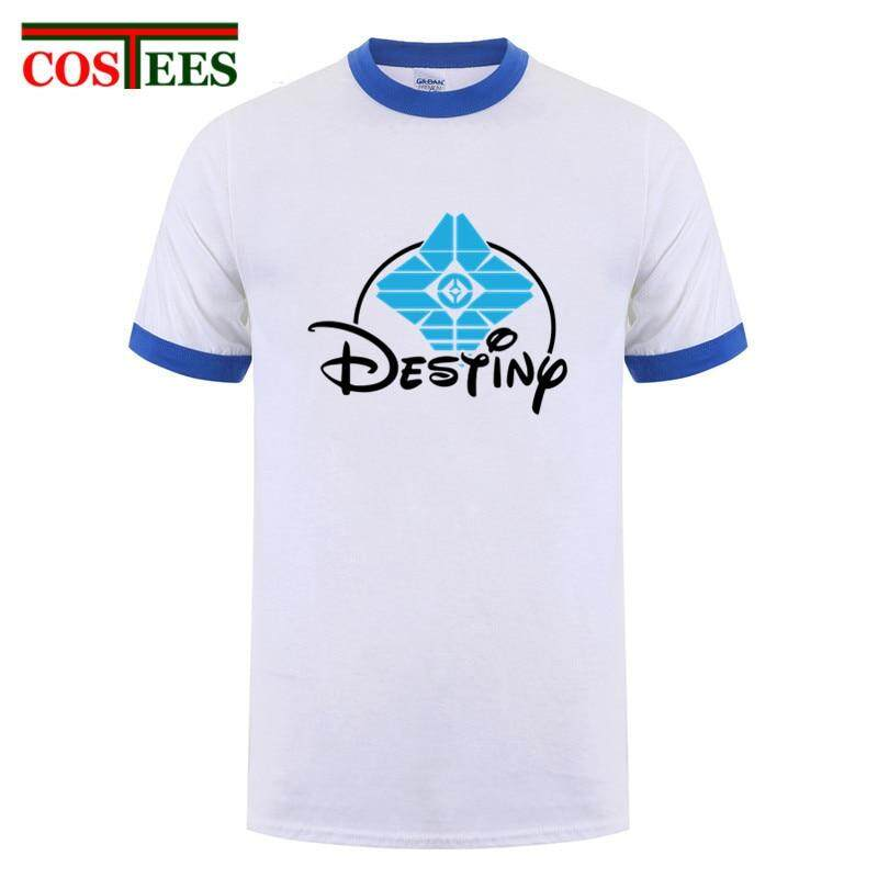 6f482ae97be 2019 Original Design Destinyland T Shirts Men Short Sleeve Parody Destiny 2  Forsaken Emblem Tee shirt