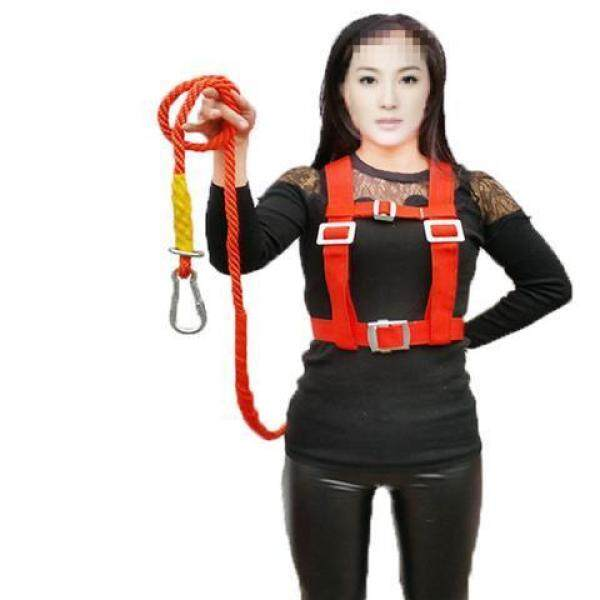 National standard outdoor aerial work safety belt European full-body electrician construction double safety belt double hook safety rope wear-resistant